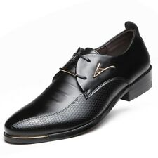New Men's England Leather Shoes Dress Formal Business Pointed Casual Lace Shoes