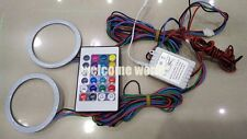2PCS 70mm Angel Eyes Halo Ring COB Flash LED Blub Multicolor RGB Controller G123