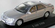 Mercedes Benz S Klasse S500 W220 Limousine 1998-2002 silber silver metallic 1:43