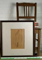 undeutlich signiert Wenzel Wetzel Aquarell von 1982 abstrakt Komposition Strich