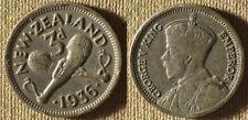 New Zealand : 1936  Three Pence VF+  #1     IR8221