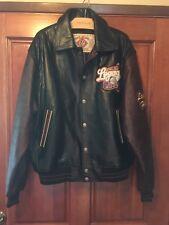 NLBM - Vintage Negro League Baseball Museum Leather Jacket Large Black/Burgandy