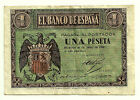 BILLETE DE 1 PESETA DE 1938 (MBC) (SERIE A)