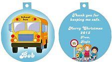 Personalized Ornament custom gift idea School bus Kids stop driver present cool