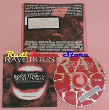 CD DAMON ALBARN & MICHAEL NYMAN Ravenous 1999 VIRGIN 7243 84712624(Xs7)lp mc dvd