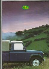 LAND ROVER NINETY AND ONE TEN SALES BROCHURE 1987