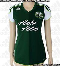 MLS Portland Timbers Women's 2012 Home Model adidas Short Sleeve Jersey(M)Green