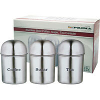 High Quality Stainless Steel Tea, Coffee and Sugar Canisters / Pots Dome Shaped
