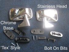 Stainless Steel Chrome Door Mirrors Triumph Stag Herald Toledo Pair