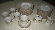 Mikasa Opera Beige Lot of 22 Pieces, Cups, Salad Plates, Soup Bowls