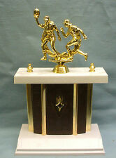 action Softball topper wide brown and gold metal column