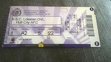 TICKET : LOKEREN - HULL CITY 21/08//2014 EUROPA LEAGUE