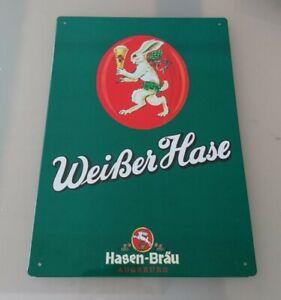 Blechschild Hasen Bräu, Bier, Brauerei  / Schild, Werbung