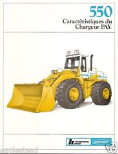 Equipment Brochure - Dresser - 550 - Pay Loader Chargeur - c1985 French (E1870)