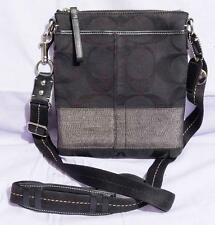 Coach Black Signature Cross Body Swing Bag F0749-40758 Authentic jds