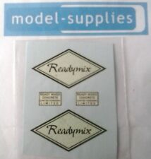 "Matchbox K13a ERF ""Readymix"" reproduction decals"