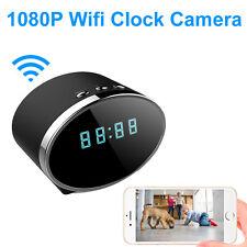 Wireless Wifi IP 1080P HD Clock Spy Hidden IR Camera Security Network Cam DVR