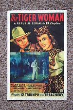The Tiger Woman Lobby Card Movie Poster Triumph over Treachery