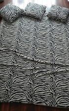 Zebra Decke und 3 Kissen, Fell Imitat