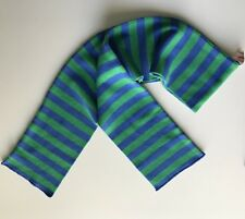 Vtg Hanna Andersson Scarf Stripes Blue Green Sweden Cotton