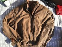 Vintage Mirage Men's Leather Bomber Flight Jacket Size Small Brown