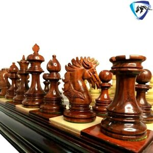 """4.5"""" Bud Rosewood Luxury Staunton Chess Pieces Set WELLINGTON Weighted-4 Queens"""