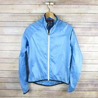 PEARL IZUMI Women's Lightweight Polyester Zip Front Jacket M Medium Blue