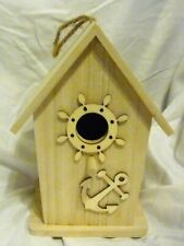 Unfinished Wood Hanging Birdhouse, Paint or Finish to suit Yourself