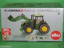Siku Control 6777 John Deere 7R mit Frontlader und Fernsteuermodul Blitzversand
