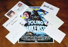 Young Frankenstein Cast Autographed Index Cards with Poster Authentic Feldman +