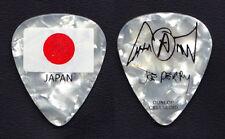 Aerosmith Joe Perry Signature Japan Flag White Pearl Guitar Pick - 2011 Tour
