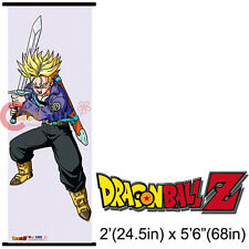 Dragon Ball Z Trunks Long Wall Scroll Oversize 5.6Ft Fabric Poster GE5397