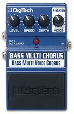 Digitech Bass Multi Voice Chorus Bass Guitar Effects Pedal Stomp Box F/S
