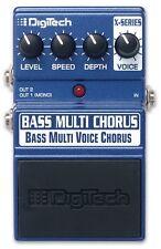 Digitech Bass Multi Voice Chorus Bass Guitar Effects Pedal Stomp Box F/S