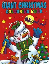 GIANT CHRISTMAS COLOURING BOOK 96 QUALITY WHITE PAGES IDEAL GIFT FREE P/P BOOK 1
