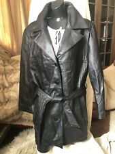 PELLE STUDIO Wilsons Black Genuine Soft Leather Jacket Coat Ladies Womens Lrg