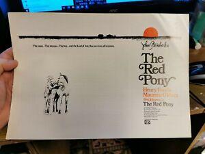 THE RED PONY 1973 Henry Fonda Maureen O'Hara John Steinbeck pressbook rare