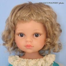 """perruque blonde courte poupée moderne-tête19/20.5cm-Doll wig supplies sz7/8"""""""