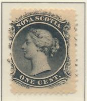 Nova Scotia (Canada) Stamp Scott #8, Mint Hinged, Original Gum