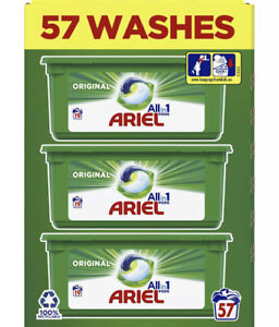 ARIEL ALL IN 1 PODS WASHING CAPSULES/PODS LIQUID TABS 57 WASHES