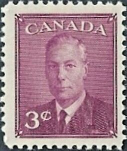 Canada   # 291   King George VI  Omitted Postes Postage    New 1950 Original Gum