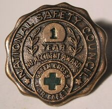 Safety Council Accident Award Vintage Screw Back Lapel Pin gift