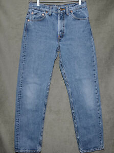 Vintage 1990's Levi's 505 Mens Sz 29x30 Stone Wash Made in USA Unisex Good Cond.