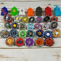 Beyblade Lot of 26 Metal Tops Spinners Launchers