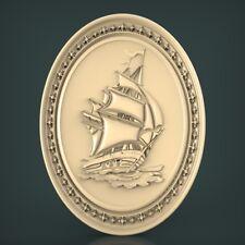 (967) STL Model Panno Ship for CNC Router 3D Printer Artcam Aspire Bas Relief