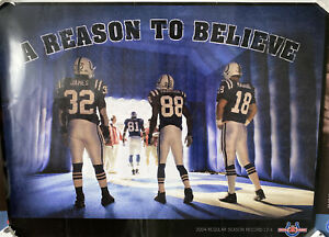 """INDIANAPOLIS COLTS """"Reason To Believe"""" POSTER - RARE!"""