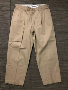 Polo Golf Adult Mens 35 x 30 (ACTUAL 32 x 27)  Pleated Pants Vintage