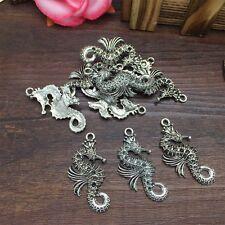 New Charm 4pcs Hippocampus Tibet Silver Pendant Fit for Bracelet Necklace CJP34