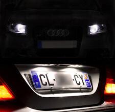 4 lampadine a LED Bianco Luci posizione luci targa per Audi A3 A4 A5