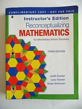Instructor Edition Reconceptualizing Mathematics for Elementary School Teachers